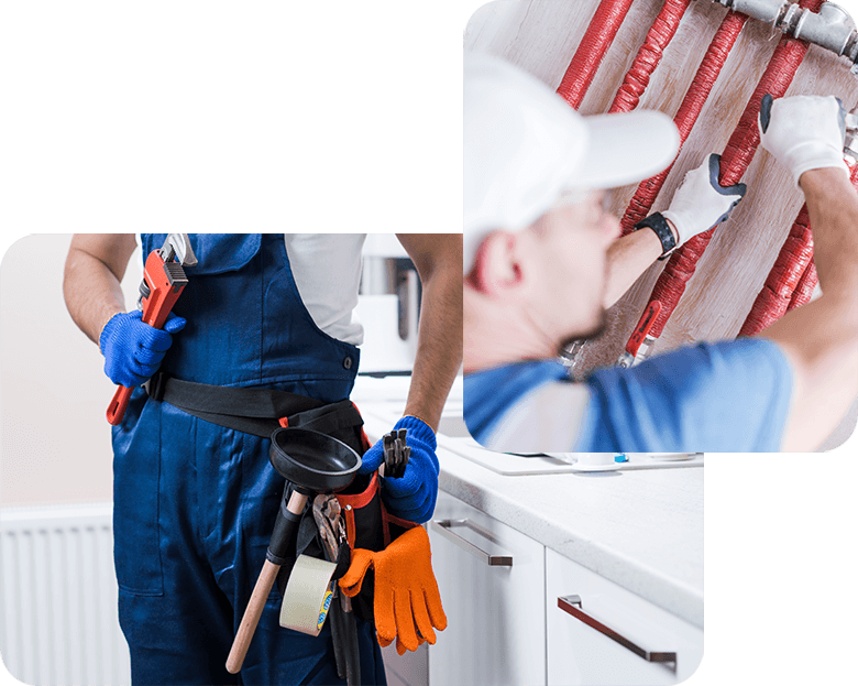 A technician provides excellent plumbing service by maintaining a pipe manifold. A plumbing technician prepares to provide plumbing service on a pipe system with an adjustable pipe wrench.