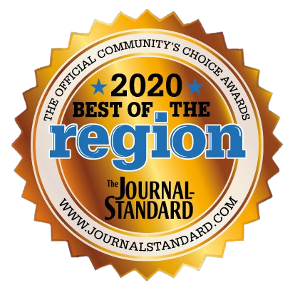 The 2020 Best of Region Award badge from the Freeport Journal-Standard. We remain the most popular plumbing service in the region because we stand behind our work.
